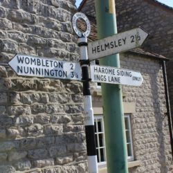 Harome to Helmsley Signpost